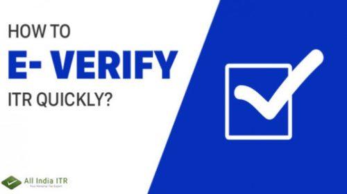 How to e-verify your Income Tax return?