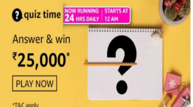 Amazon is giving you a chance to win Rs 25000-50000 Daily ;Check Details